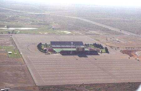 Aerial view of Ratliff Stadium in 1998. The West Texas Relays Historical